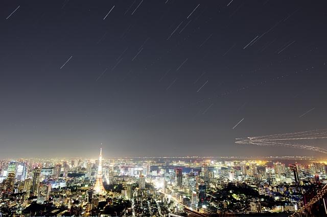 Pegasus and Aquarius over Tokyo