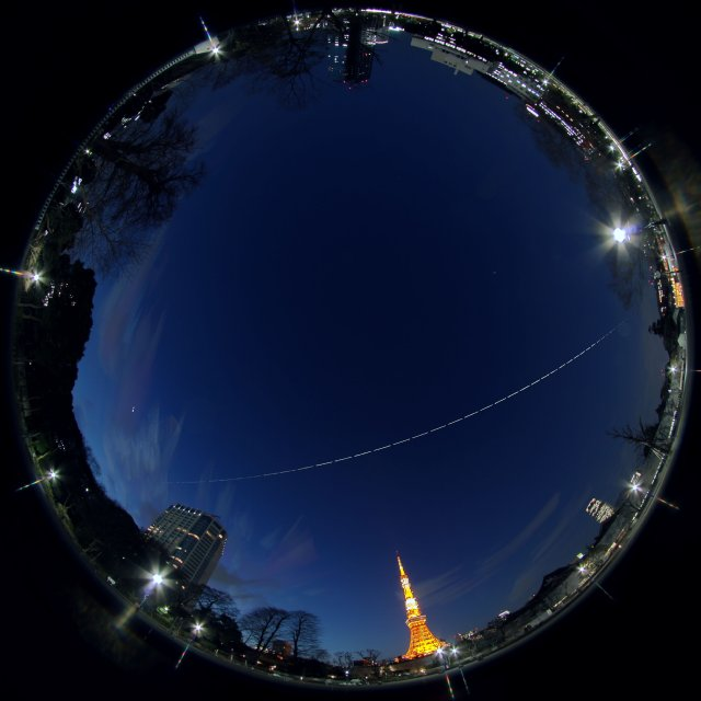 Iss over the Tokyo Tower